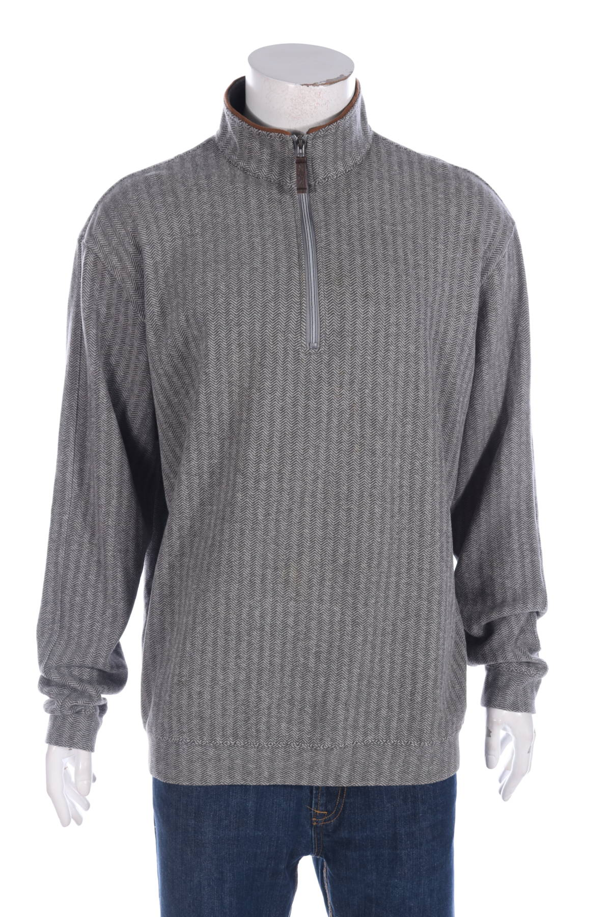 Пуловер с поло яка STRAIGHT DOWN1