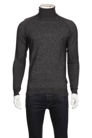 Пуловер с поло яка REBEL