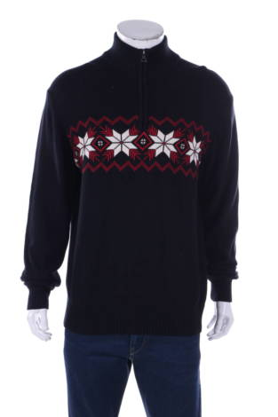 Пуловер с поло яка Weatherproof