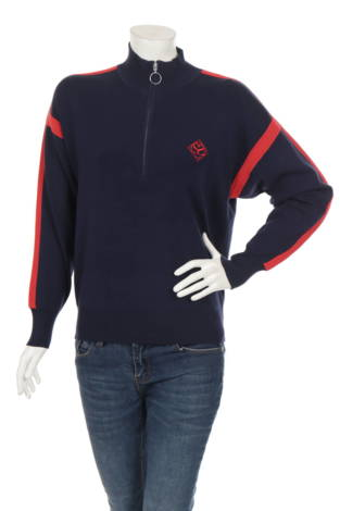 Пуловер с поло яка SANDRO