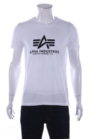 Тениска с щампа Alpha Industries