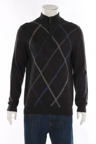 Пуловер с поло яка DAVID TAYLOR