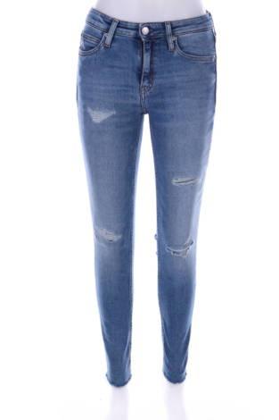 Дънки с висока талия Calvin Klein