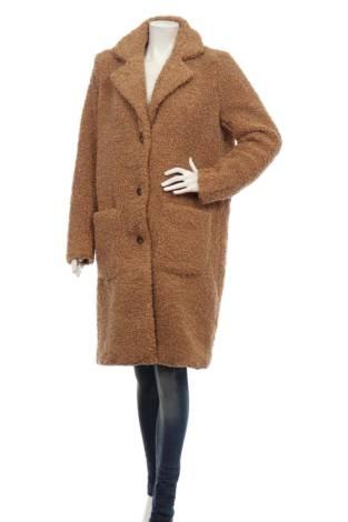 Палто с косъм KAFFE