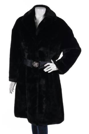 Палто с косъм Guess