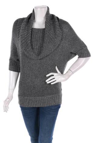 Пуловер с поло яка Elle