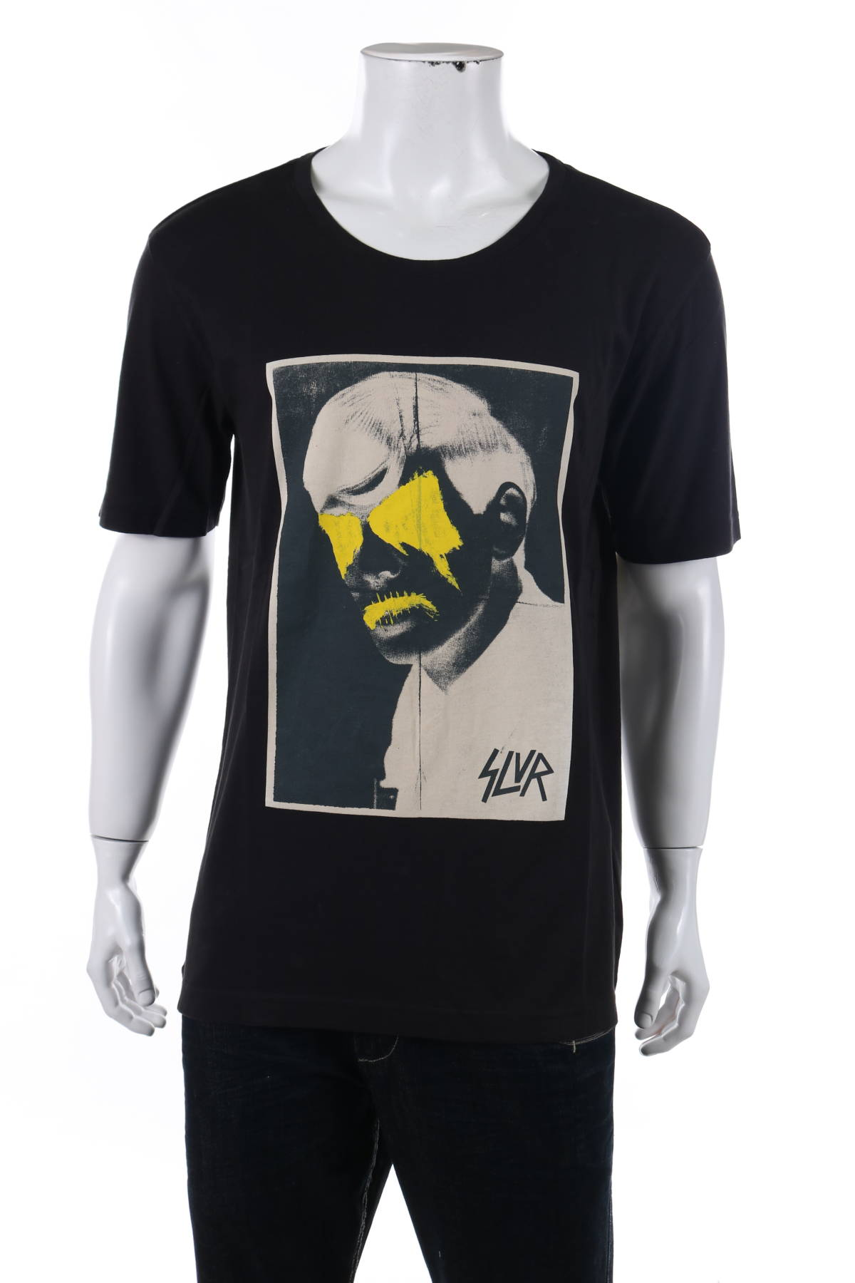 Тениска с щампа Adidas SLVR1