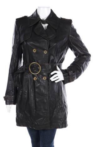 Кожено палто Fashion Elle