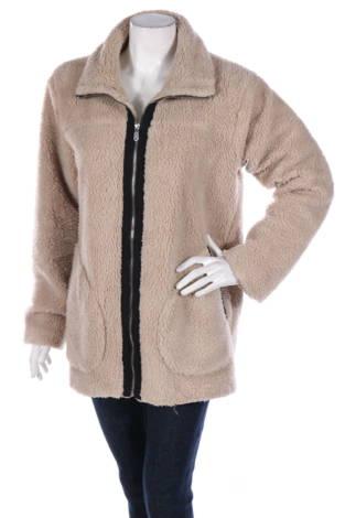 Палто с косъм Globalfunk