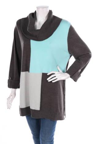 Пуловер с поло яка JM COLLECTION