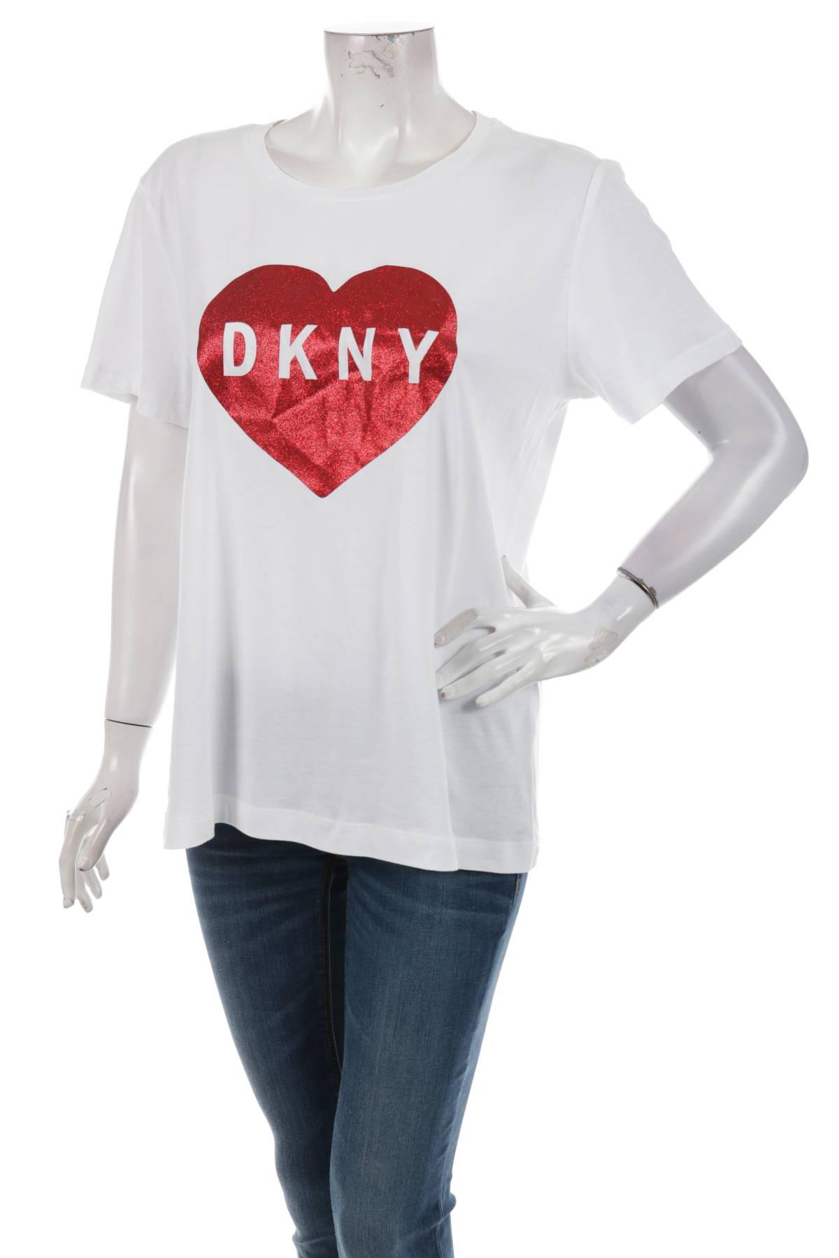 Тениска с щампа Dkny1