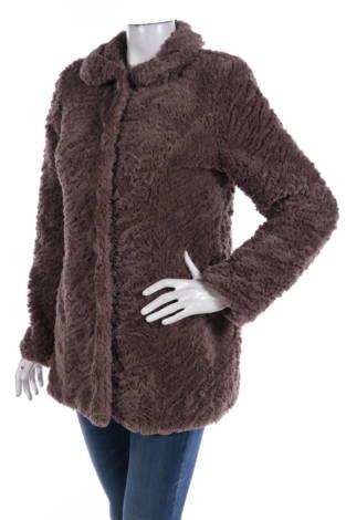 Палто с косъм BLANCO