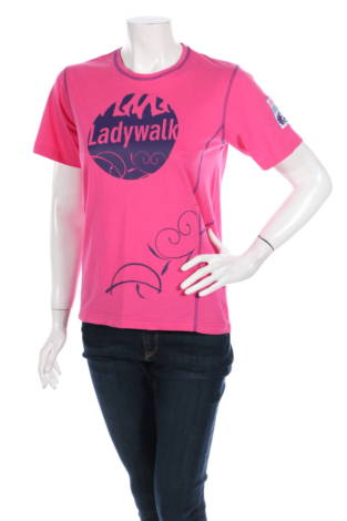 Тениска с щампа Lady Walk