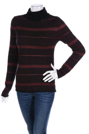 Пуловер с поло яка Comma,
