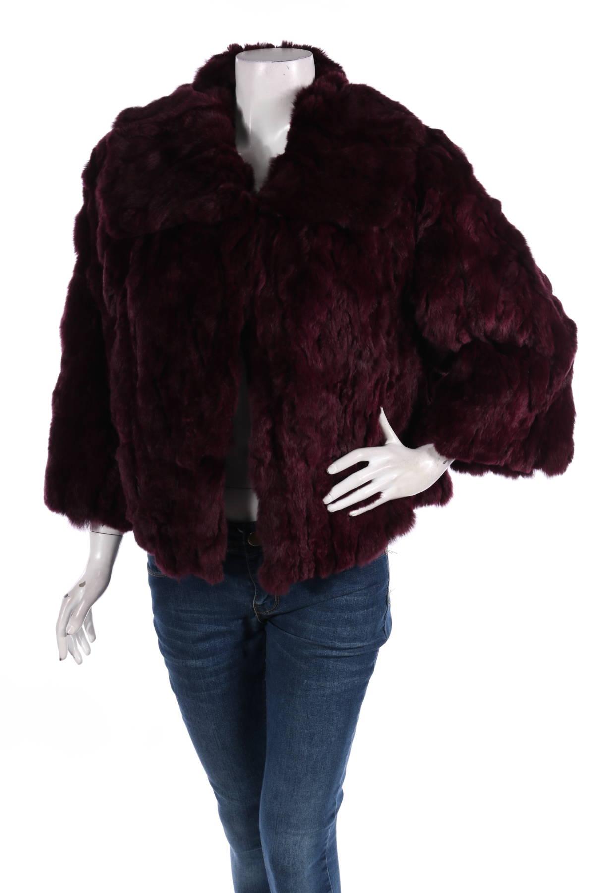 Палто с косъм Adrienne Landau1