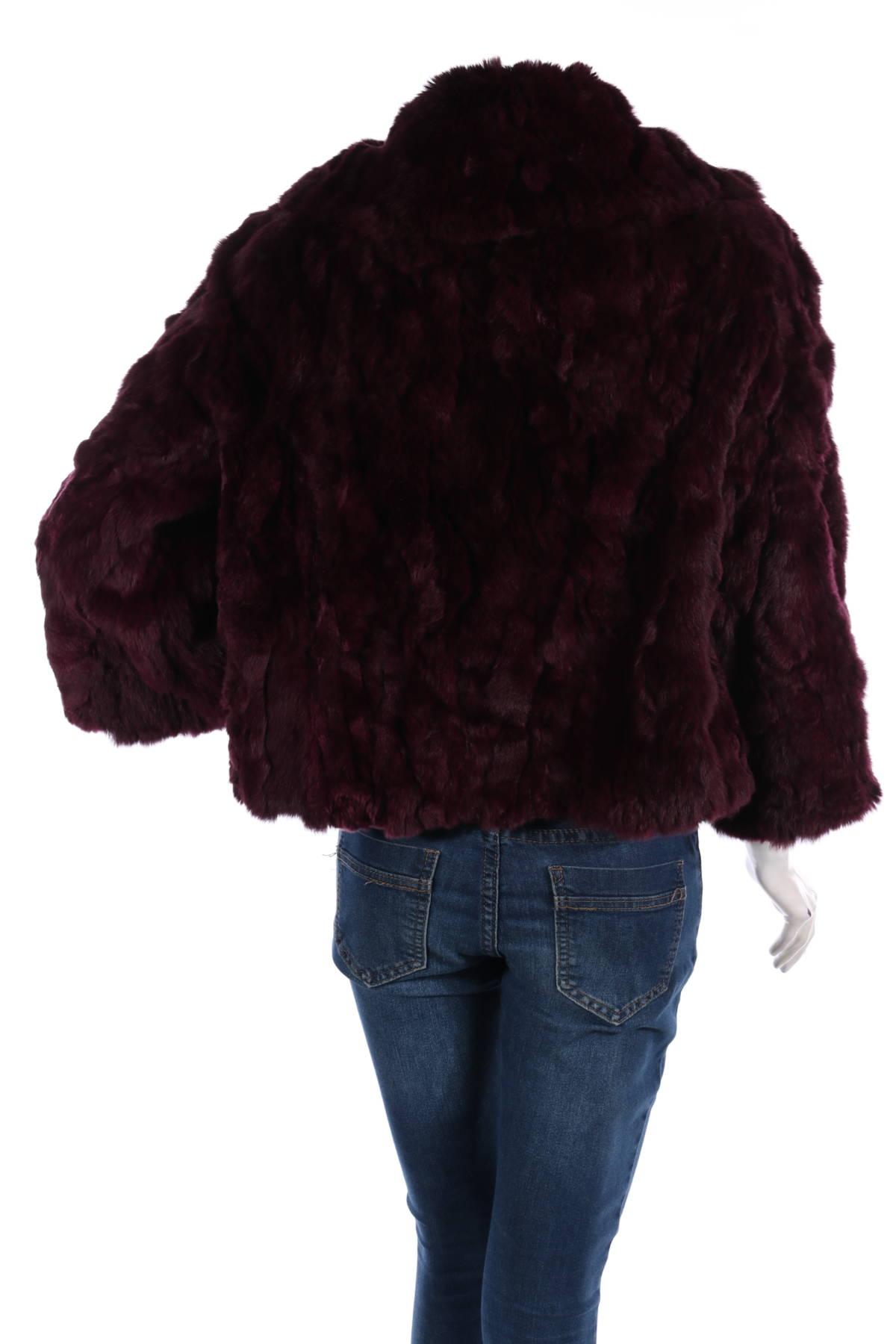 Палто с косъм Adrienne Landau2