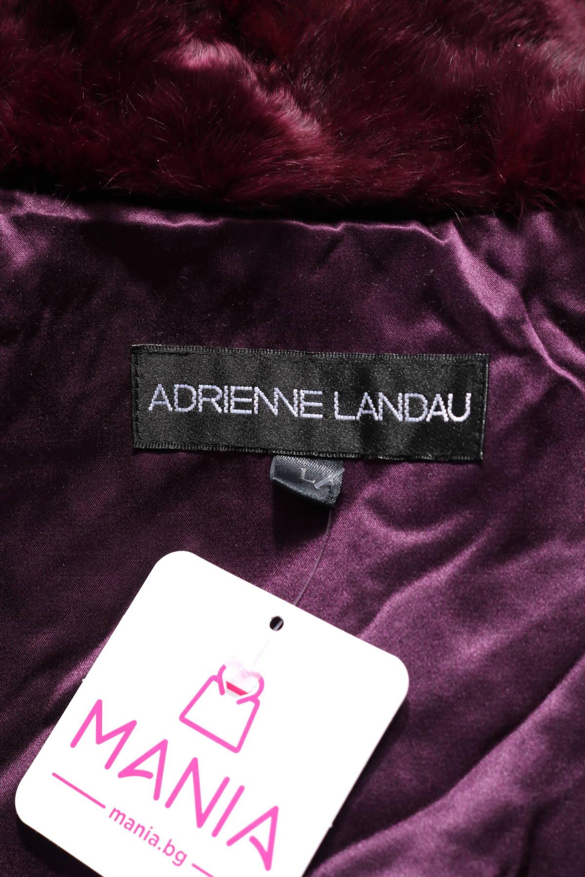 Палто с косъм Adrienne Landau3
