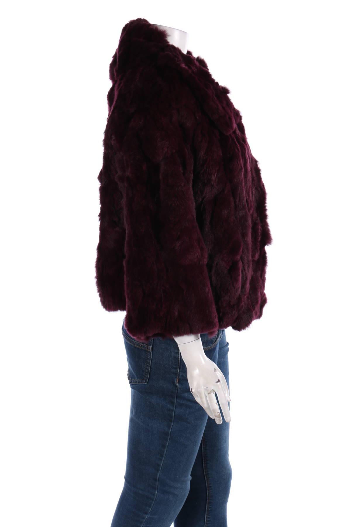 Палто с косъм Adrienne Landau4