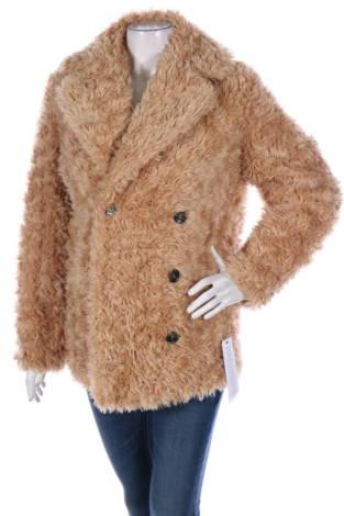 Палто с косъм Topshop