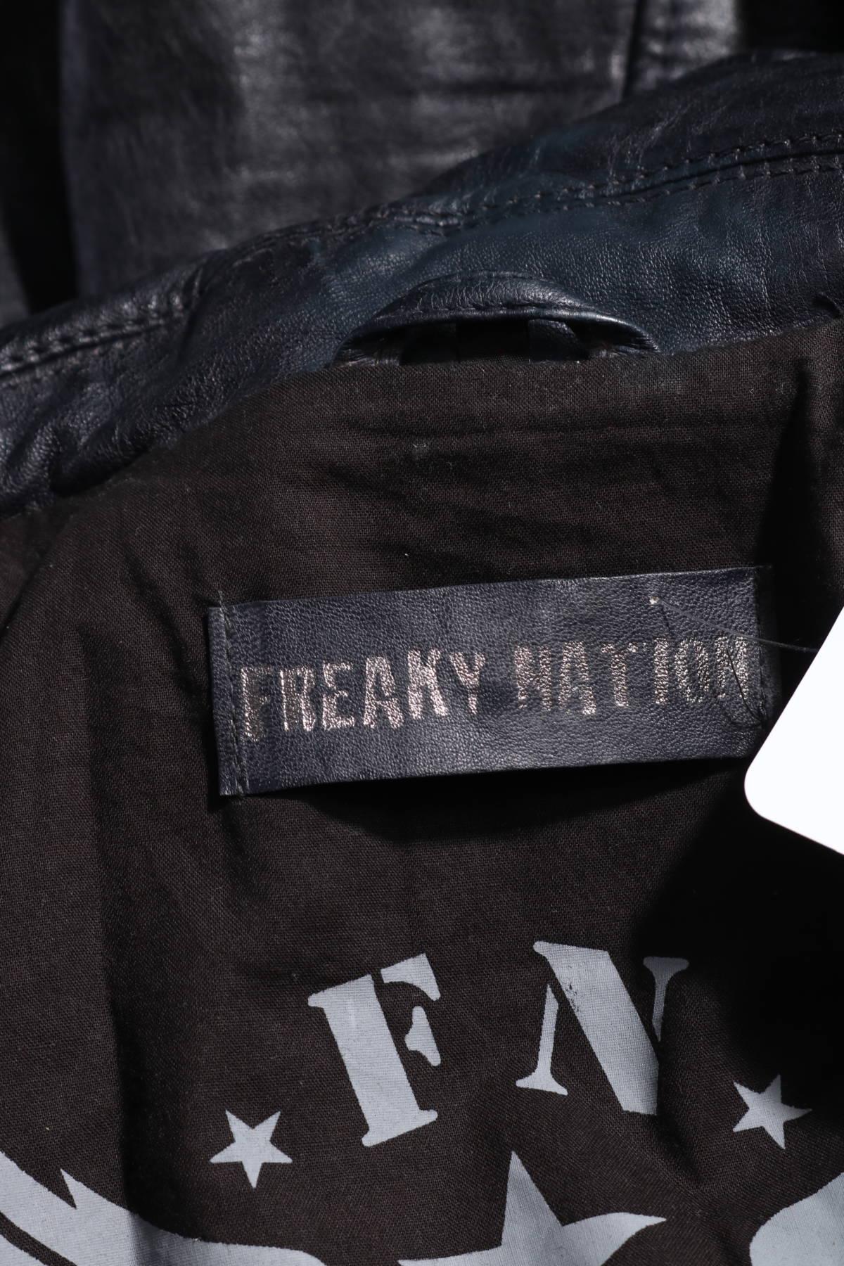 Кожено яке Freaky Nation4