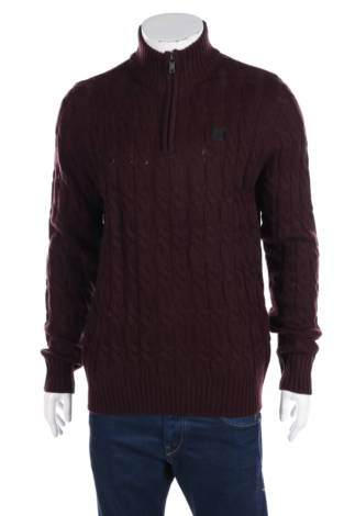 Пуловер с поло яка Kangol