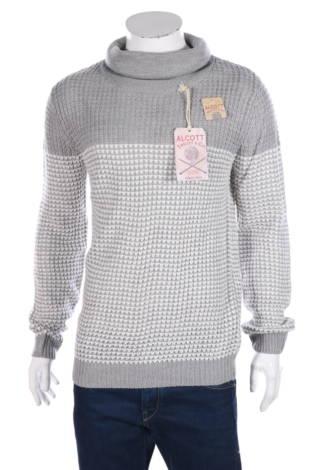Пуловер с поло яка Alcott