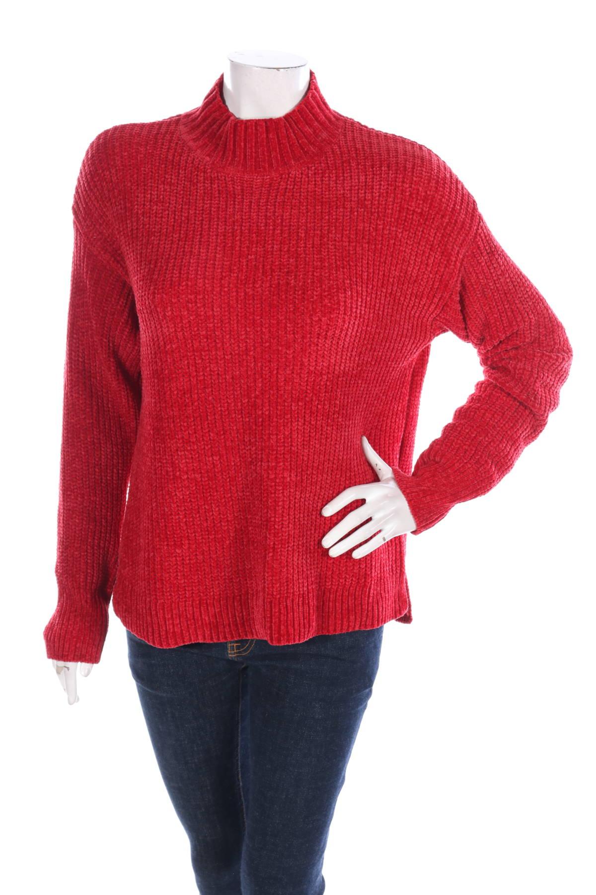 Пуловер с поло яка TIME AND TRU1
