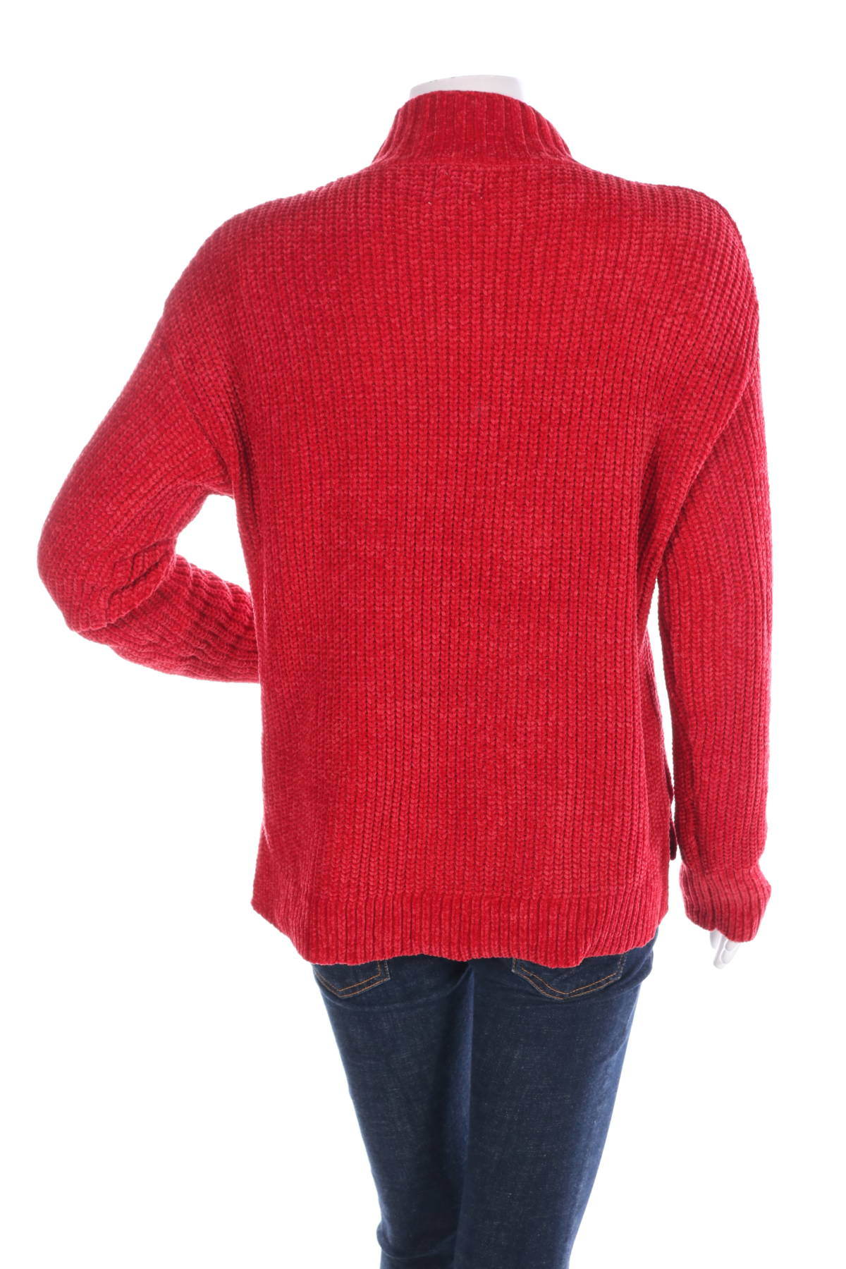 Пуловер с поло яка TIME AND TRU2