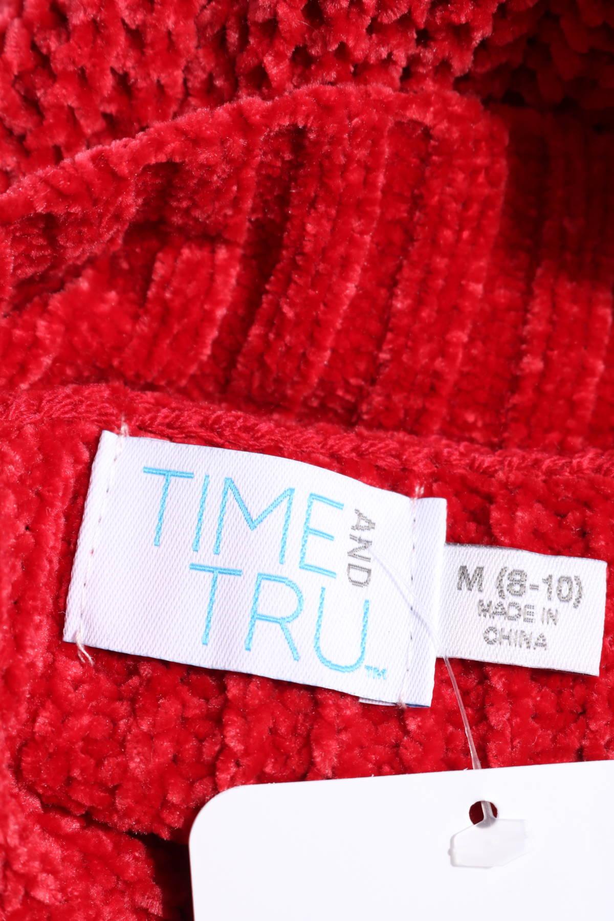 Пуловер с поло яка TIME AND TRU3