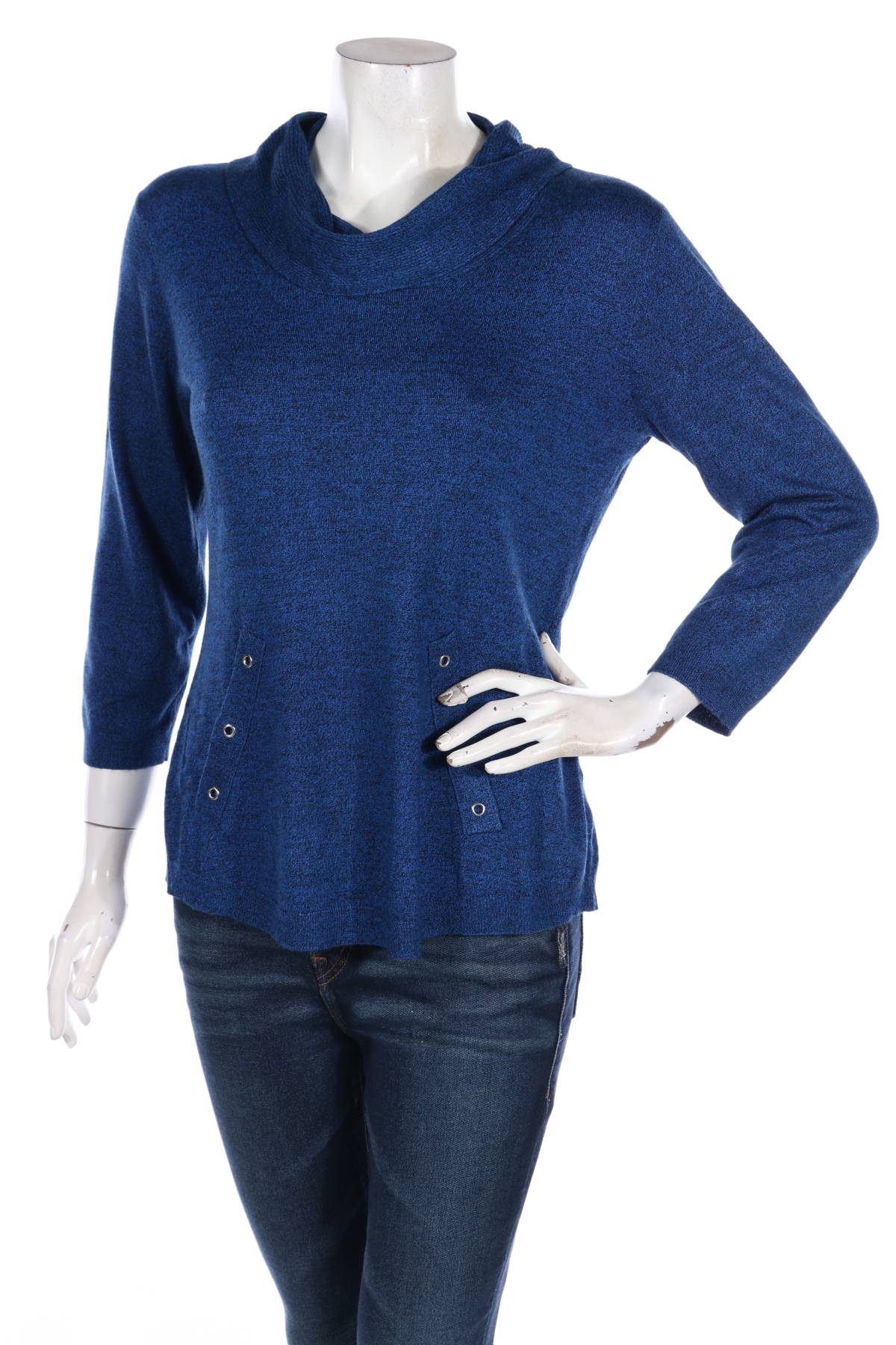 Пуловер с поло яка ROZ & ALI1