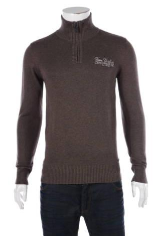 Пуловер с поло яка Tom Tailor