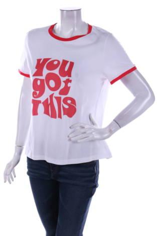 Тениска с щампа GLAMOROUS