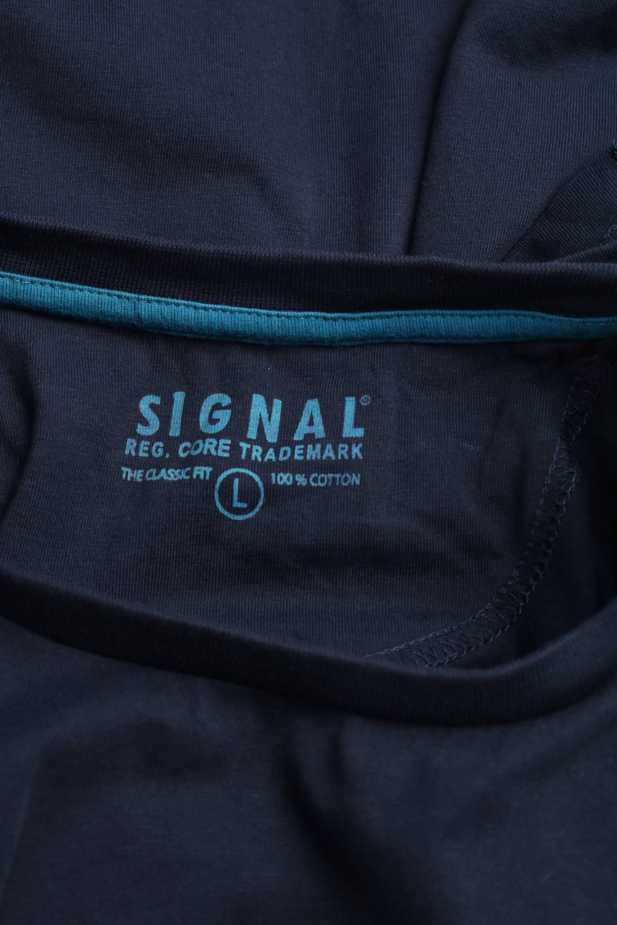 Тениска с щампа Signal3