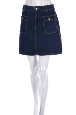 Дънкова пола Zara Basic