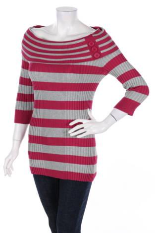 Пуловер с поло яка Pink Rose