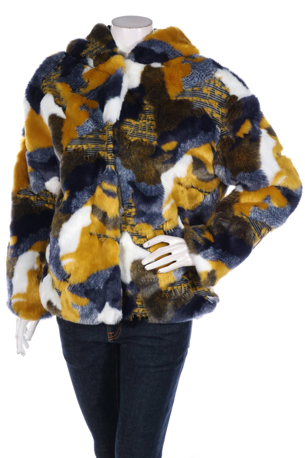 Палто с косъм Desigual1