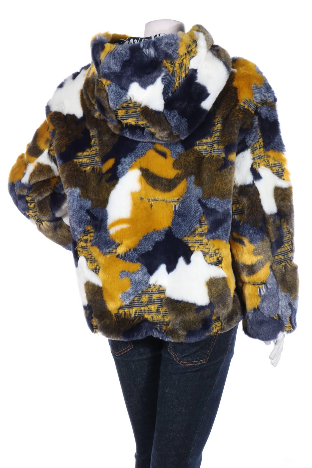 Палто с косъм Desigual2