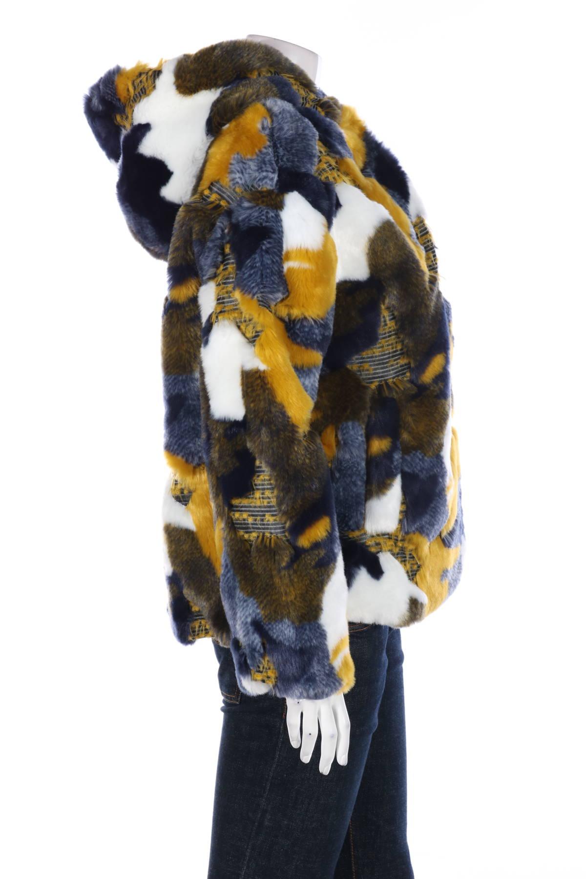 Палто с косъм Desigual3