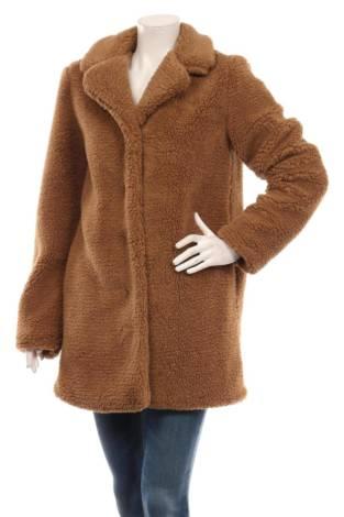 Палто с косъм PIECES