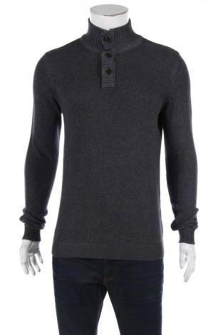 Пуловер с поло яка NO NAME