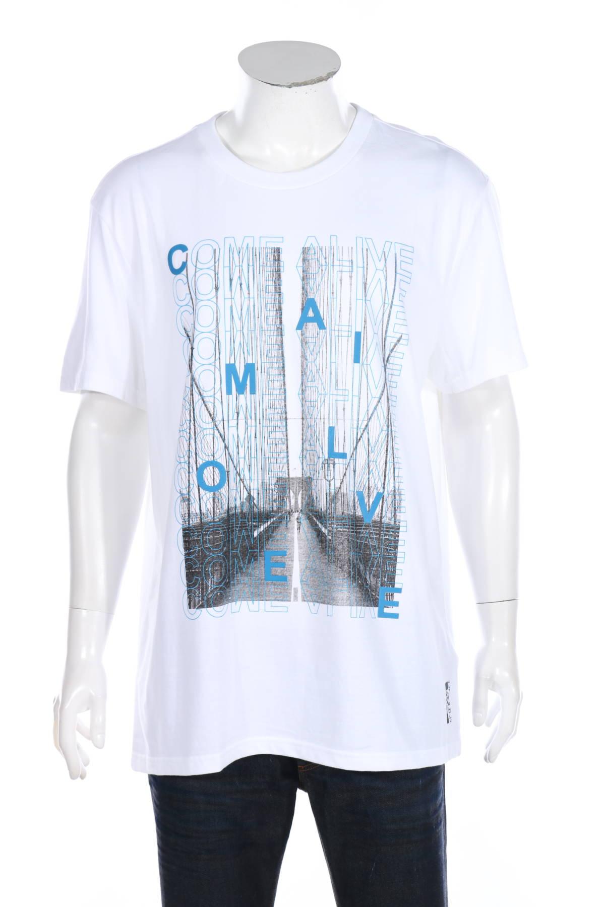 Тениска с щампа Review1