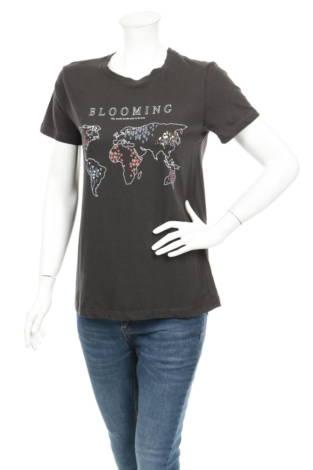 Тениска с щампа STRADIVARIUS