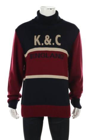 Пуловер с поло яка Kent&Curwen