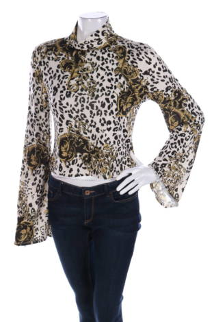 Блуза с поло яка Gina Tricot