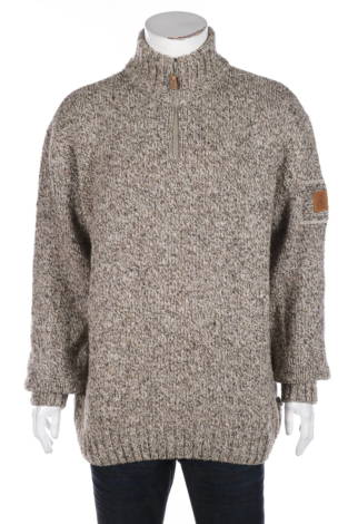 Пуловер с поло яка O.C.K. OUTDOOR CLASSIC KHAKI