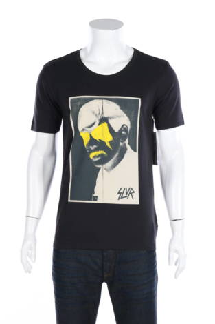Тениска с щампа Adidas SLVR