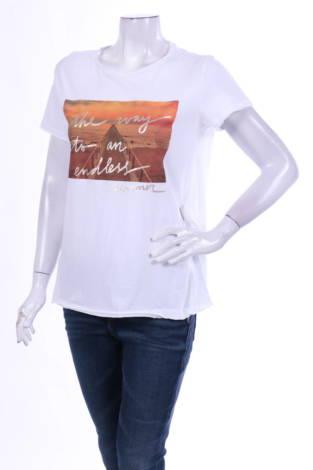 Тениска с щампа VIOLETA BY MANGO