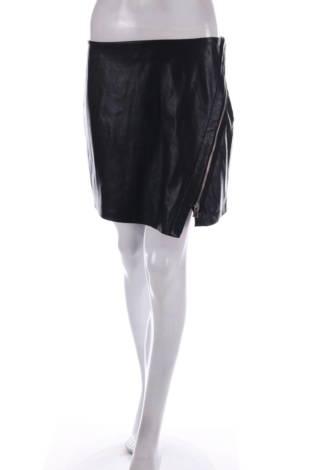 Кожена пола Zara Basic