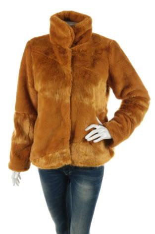 Палто с косъм Object