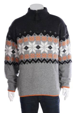 Пуловер с поло яка TCM